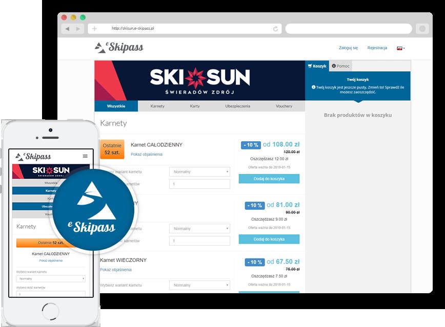 E-skipass <BR> Nowoczesna platforma ZAKUPÓW ONLINE